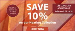 10% off The Heating Collection with Code @ Expert Verdict