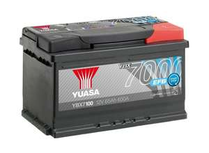Start/stop battery for fiesta etc - Yuasa 4 Year Guarantee YBX7100 Start/Stop 12V EFB Car Battery £85 @ Halfords