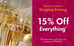 15% Off Everything on Thursday + Free Glass of Prosecco @ Squire's Garden Centres