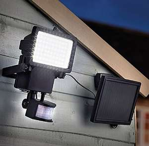 Solar Powered LED Floodlight W/ PIR, Remote Solar Panel & 1000 Lumen Output £24.99 W/ Code RM5AUL @ Robert Dyas (Free C&C)