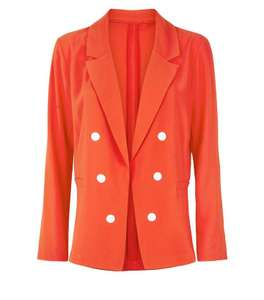 Cameo Rose Red Double Breasted Blazer - £5 + £3.99 Delivery @ New Look