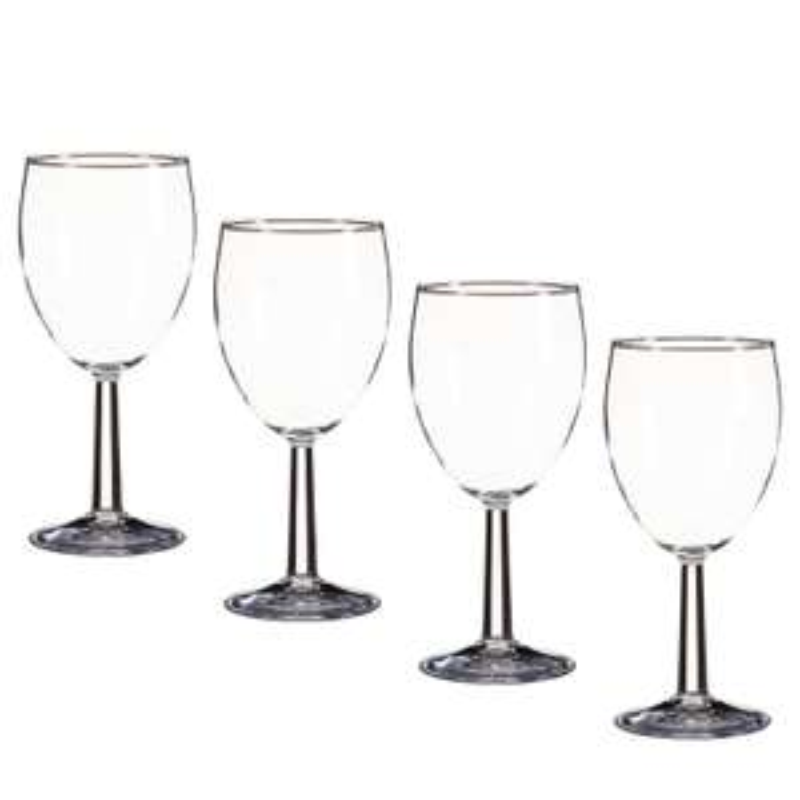 4 Wine glasses 50p OR 4 Hi- Ball glasses 50p @ B&M