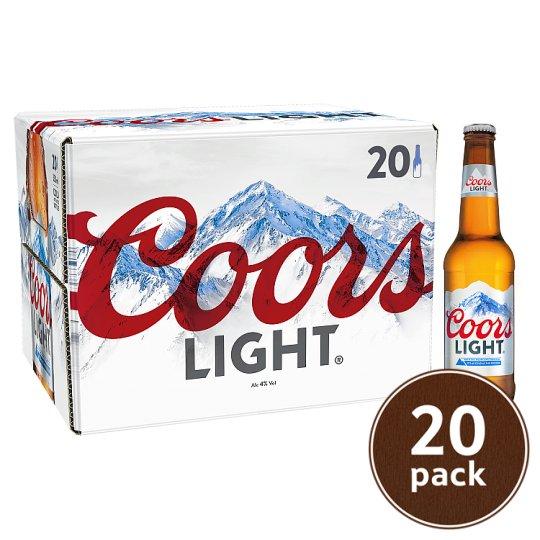 Coors Light 20 x 330 ml - £11 @ Tesco (free C&C)