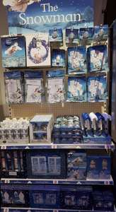 The snowman christmas range due in stores by 1st november. £1 each at poundland (poundland have an exclusive licence on the snowman this year)