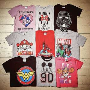 Pep&co kids character tees £3 Minnie/marvel/paw patrol/ Spider-Man and many more