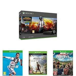 Xbox One X 1TB PUBG + FIFA19 + Assassins Creed Odyssey Limited Edition + Far Cry 5 Limited Edition  - £399.99 @ Amazon