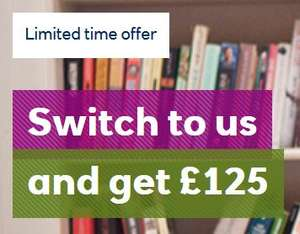 £125 Switch Reward for switching to RBS Plus 2% cashback on bills by the Reward Current Account