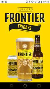 A FREE PINT OF FRONTIER FROM 1-5PM at Fullers. SIGN UP NOW TO CLAIM YOURS