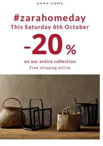 Zara Home This Saturday 20% OFF + Free Delivery 6/10/18