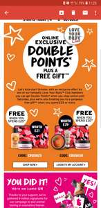 Free gift when you spend £25 or £30 worth £21 or £29 at The Body Shop