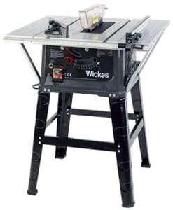 Wickes 254mm Table Saw 230V - 1500W now £109.65 C+C with code @ Wickes