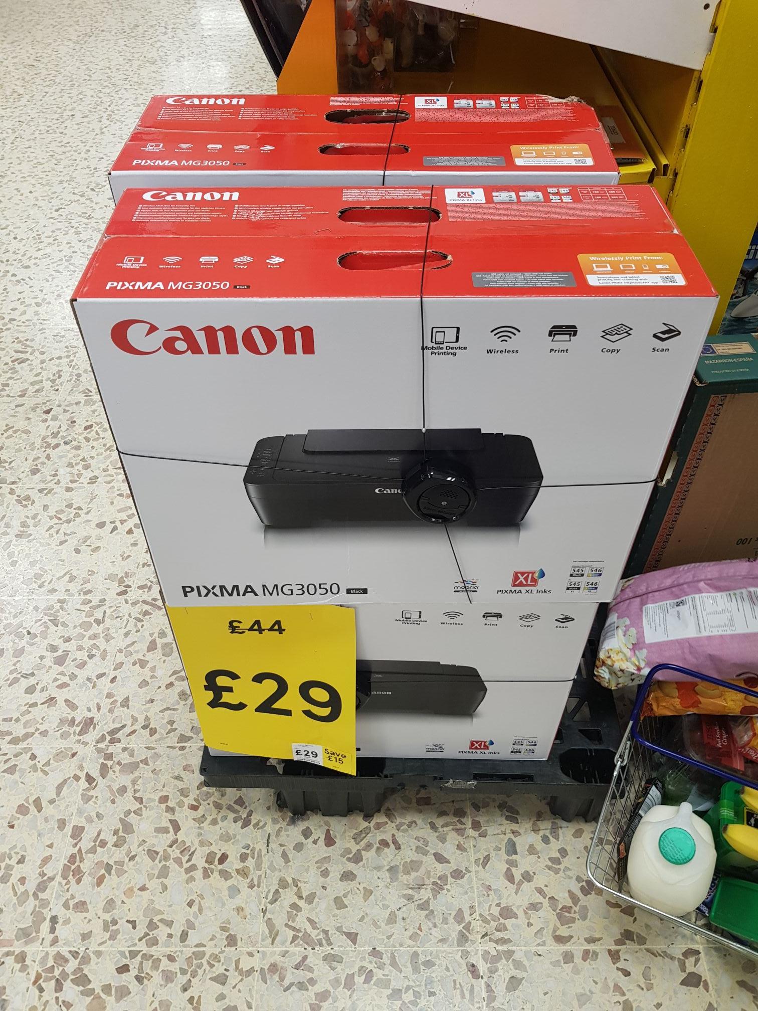 Canon Pixma MG3050 Wireless Printer £29 @ Tesco instore