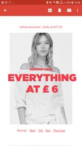 Summer Sale everything £6 at Mango Outlet