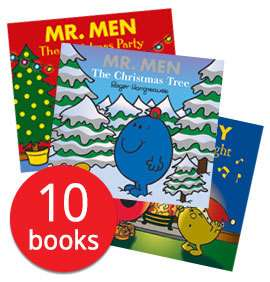 Mr.Men The Christmas Collection 10 books £7.45 delivered with code @ The Book People