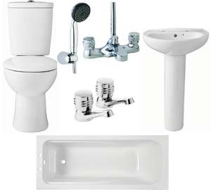 Wickes 3 Piece Bathroom Suite W/ Code OCT18 @ Wickes (Free C&C Only)