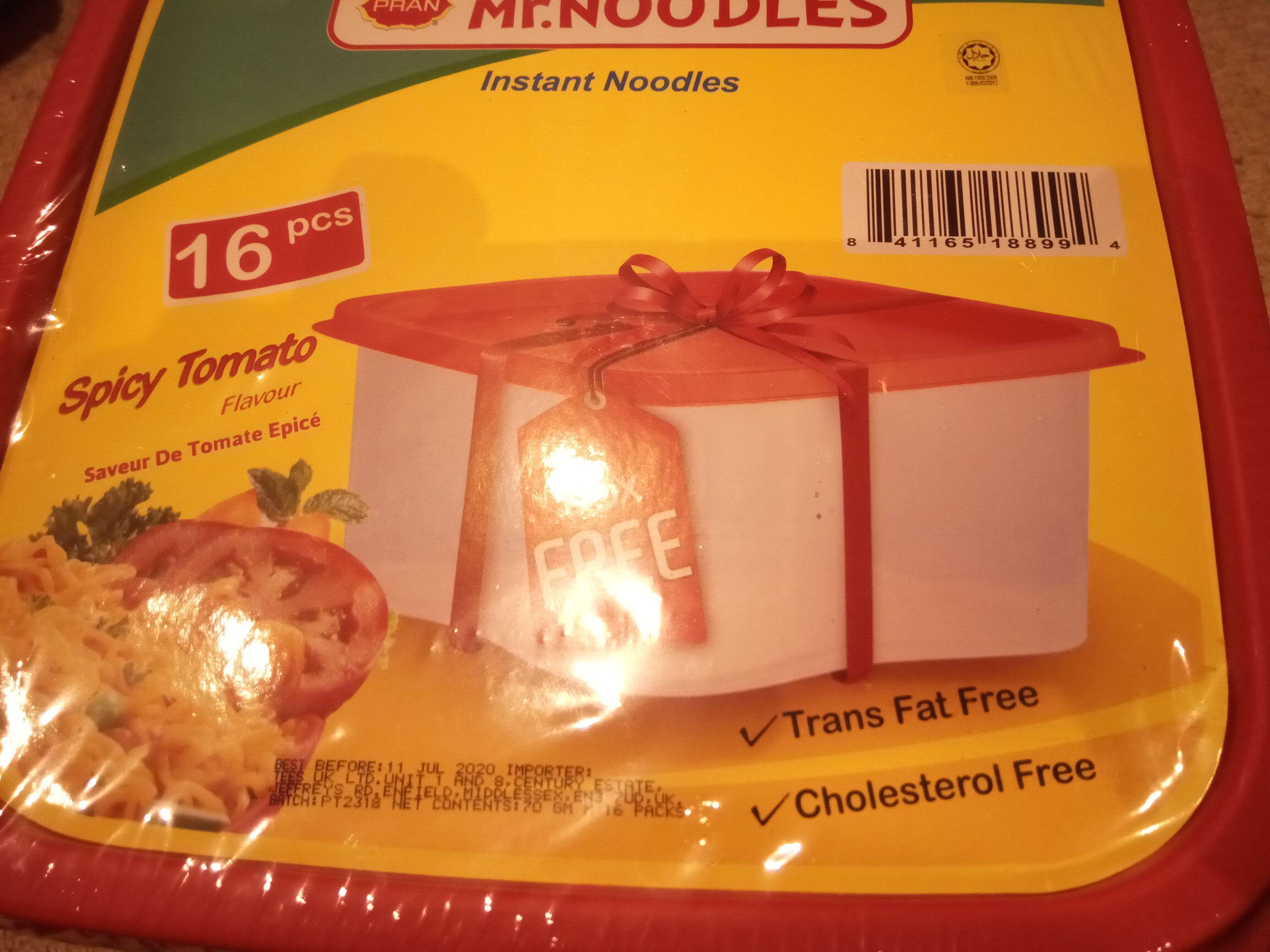 Pran Mr. Noodles Spicy Tomato 70g 16pk inc. Free Box £2.99 @ Poundstretcher