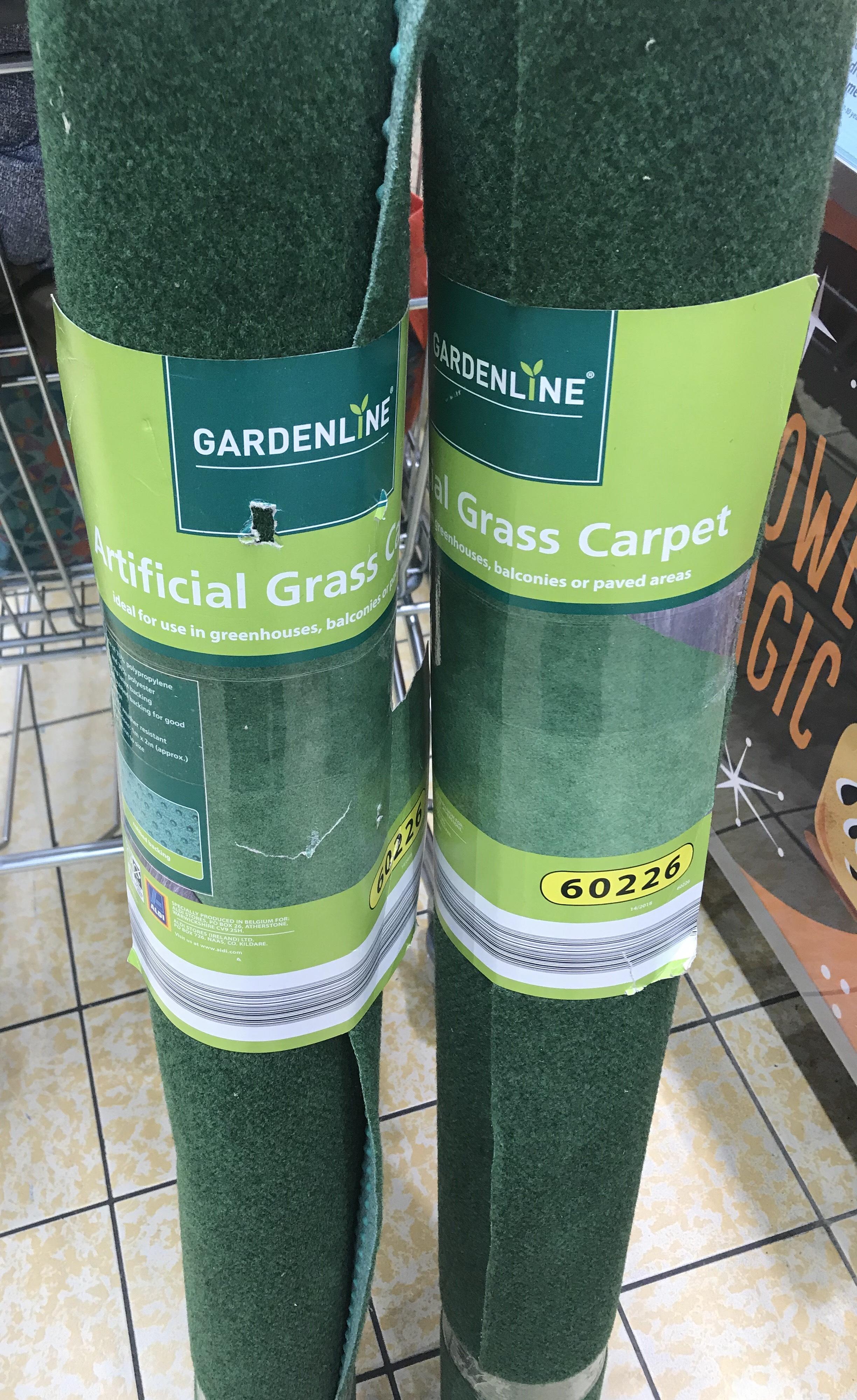 Artificial Garden Carpet 1m x 2m @ Aldi £1