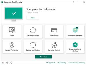 40% discount on Kaspersky Total Security