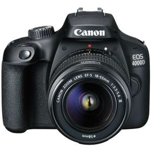 Canon EOS 4000D Kit with 18-55 III Lens Digital SLR Cameras - £215.99 @ Toby Deals