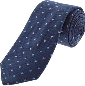 Nice Tie - Navy Spotted Silk Tie - £9.99 (+£3.99 Delivery or £1.99 C&C) @ TK Maxx