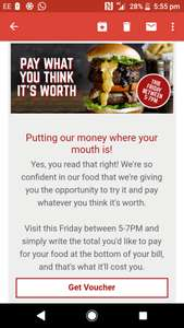 Coast to Coast - Pay what you want - Friday 5-7pm - Excludes drinks