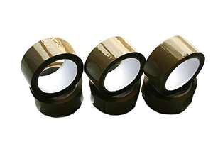 6 Rolls Brown/Buff Low Noise Packing Tape, 48MM x 66M (6, Brown), £1.99 sold by Northern Plants/amazon