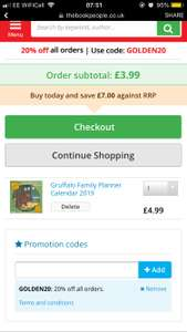 Gruffalo Family Calendar £4.99 / £6.95 delivered with code at Book People