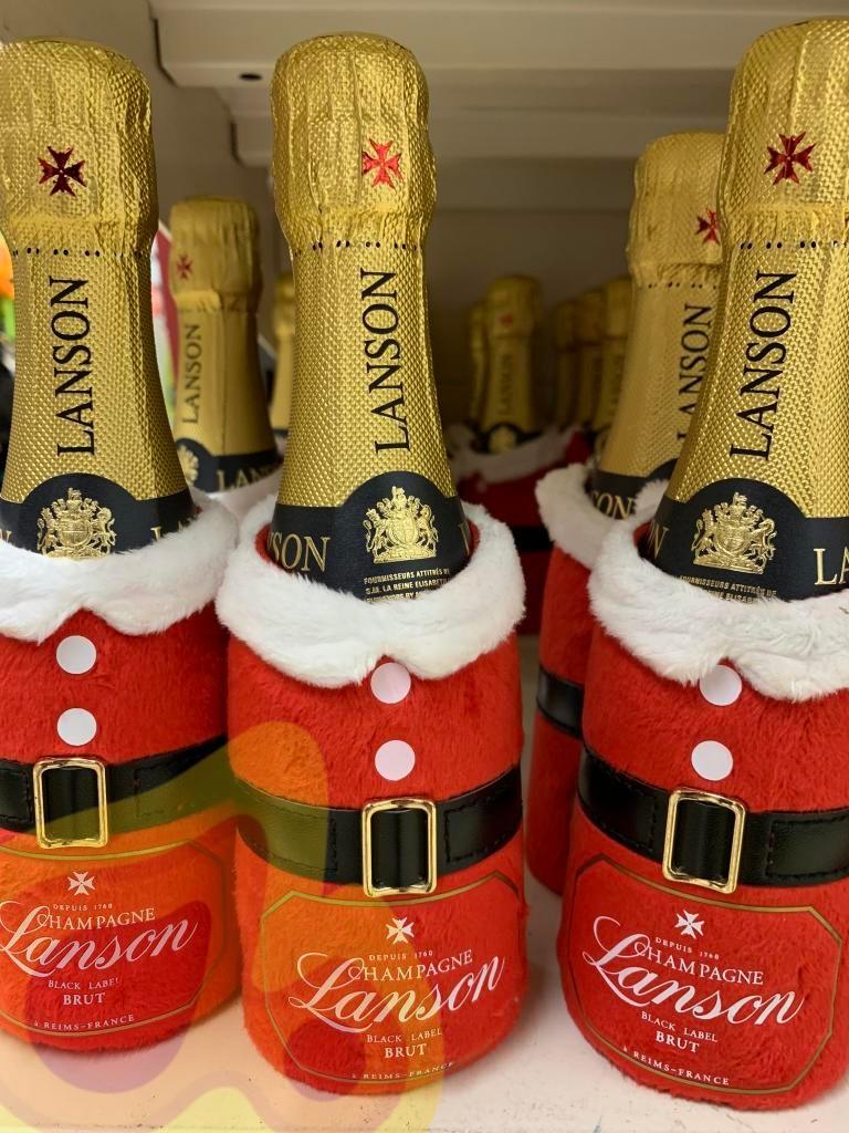 Lanson Black Label Champagne 20cl Christmas Bottle £5  at Sainsbury's instore