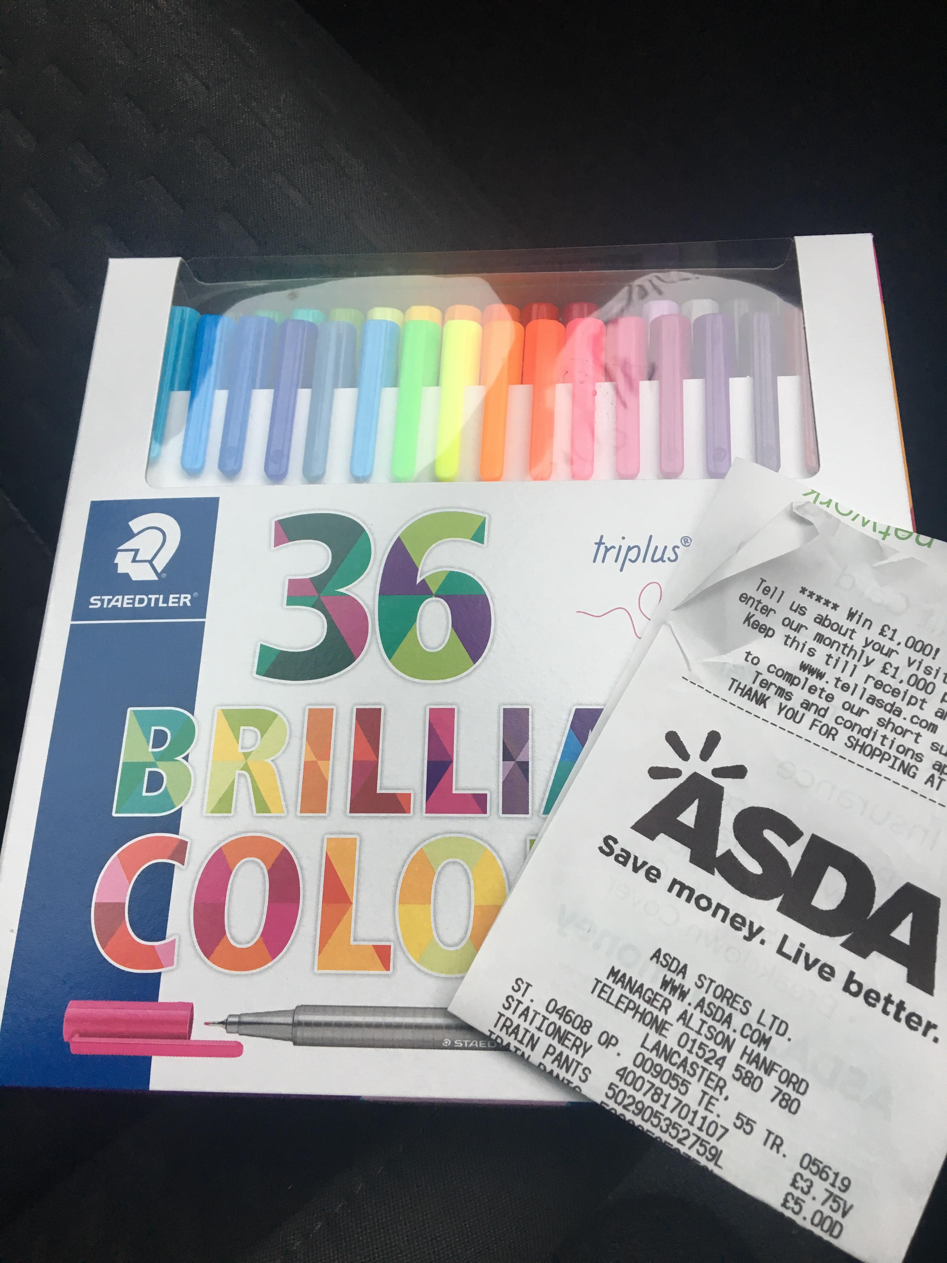 36 Staedtler Fineliners £3.75 Asda Instore Only - Lancaster
