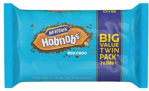 Britain's favourite biscuit...almost! Choc Hobnobs Twin Pack £2 Sainsburys & Asda