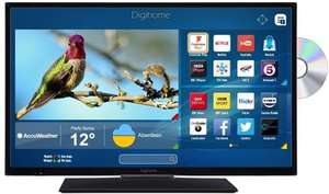Digihome 32HDDVDCNTD 32 Inch HD T2 smart LED TV/DVD combi with Freeview Play £169 @ Box
