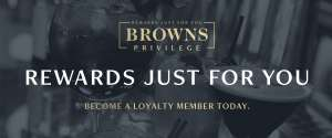 Fee £10 to spend at Browns Brasserie with loyalty card app