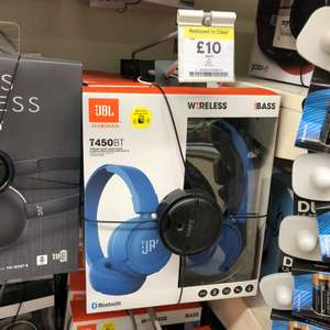 JBL T450BT Wireless Headphones £10 reduced from £40 in store Tesco