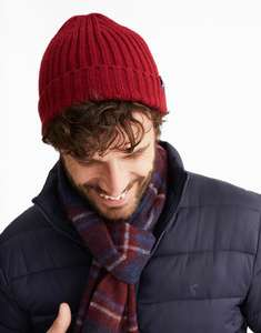 Joules Mens Bamburgh Cable Knitted Beanie Hat (Free Click & Collect) £3.56