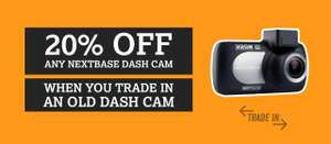 20% off Nextbase Dash Cam @ Halfords with trade-in