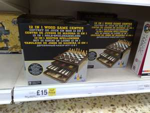 12 in 1 Wood Game Centre Was £30 Now £15 @ Tesco