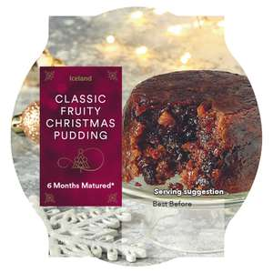 3 X 100g Classic 6 months matured* Fruity Christmas Pudding £2 @ Iceland