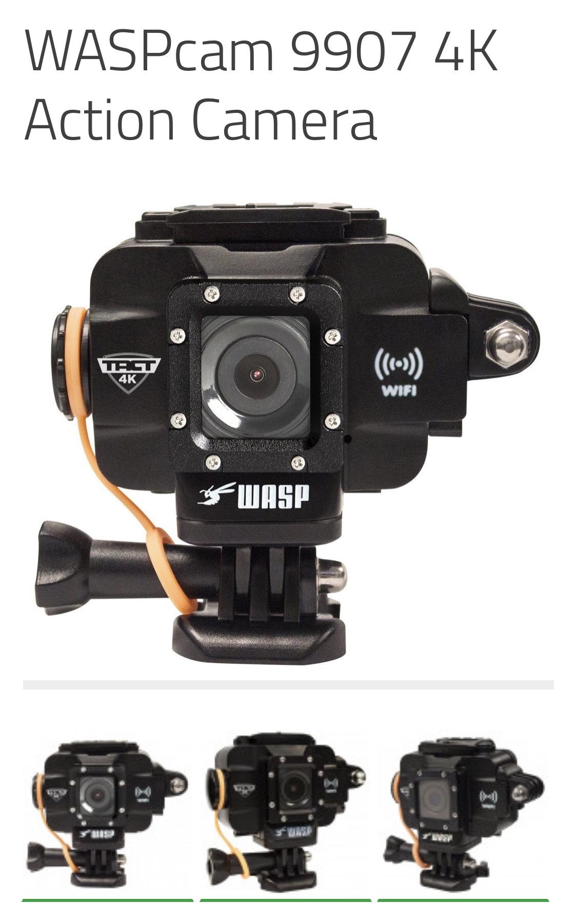 WASPcam 9907 4K Action Camera WiFi - £79.99 @ Snooper