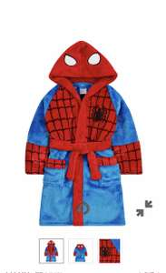 Spiderman and Thomas tank fluffy dressing gowns free c+c @ mothercare - £8