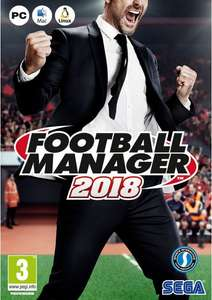 Football Manager 2018 for PC/Mac £8.99 at CDKeys