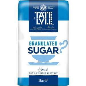 Tate and Lyle Granulated Sugar 1Kg 49p - Poundstretcher