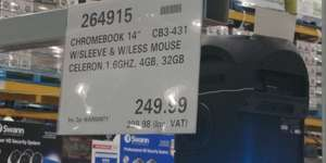 Asus Chromebook CB3-431 with Sleeve and Mouse Costco instore