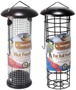 Kingfisher Premium Hammertone Fat Ball Bird Feeder & Hammertone Nut Feeder £1 ea Or £2 For Both @ Robert Dyas Clearance (Free C&C)