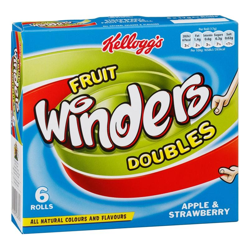 Kellogg's Fruit Winders Doubles (Apple & Strawberry) - £1 @ B&M