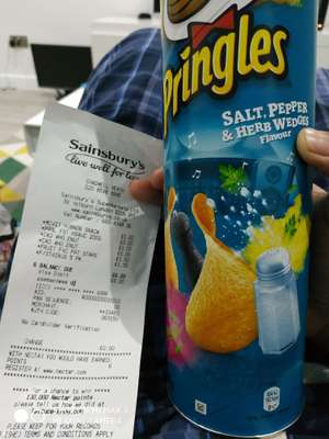 Pringles salt pepper and herb wedges flavour - 20p instore @ Sainsburys (London)