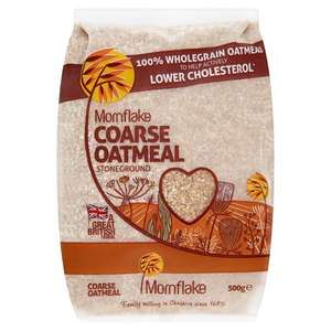 Mornflake Coarse Oatmeal Cereal, 500g amazon prime (Sold and fulfilled by Sports Inside) - 85p Delivered