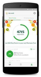 500 more points with Morrisons More App