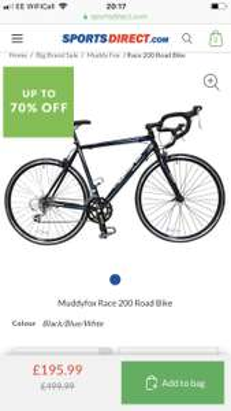 Muddyfox Race 200 Road Bike - £195.99 @ Sports Direct