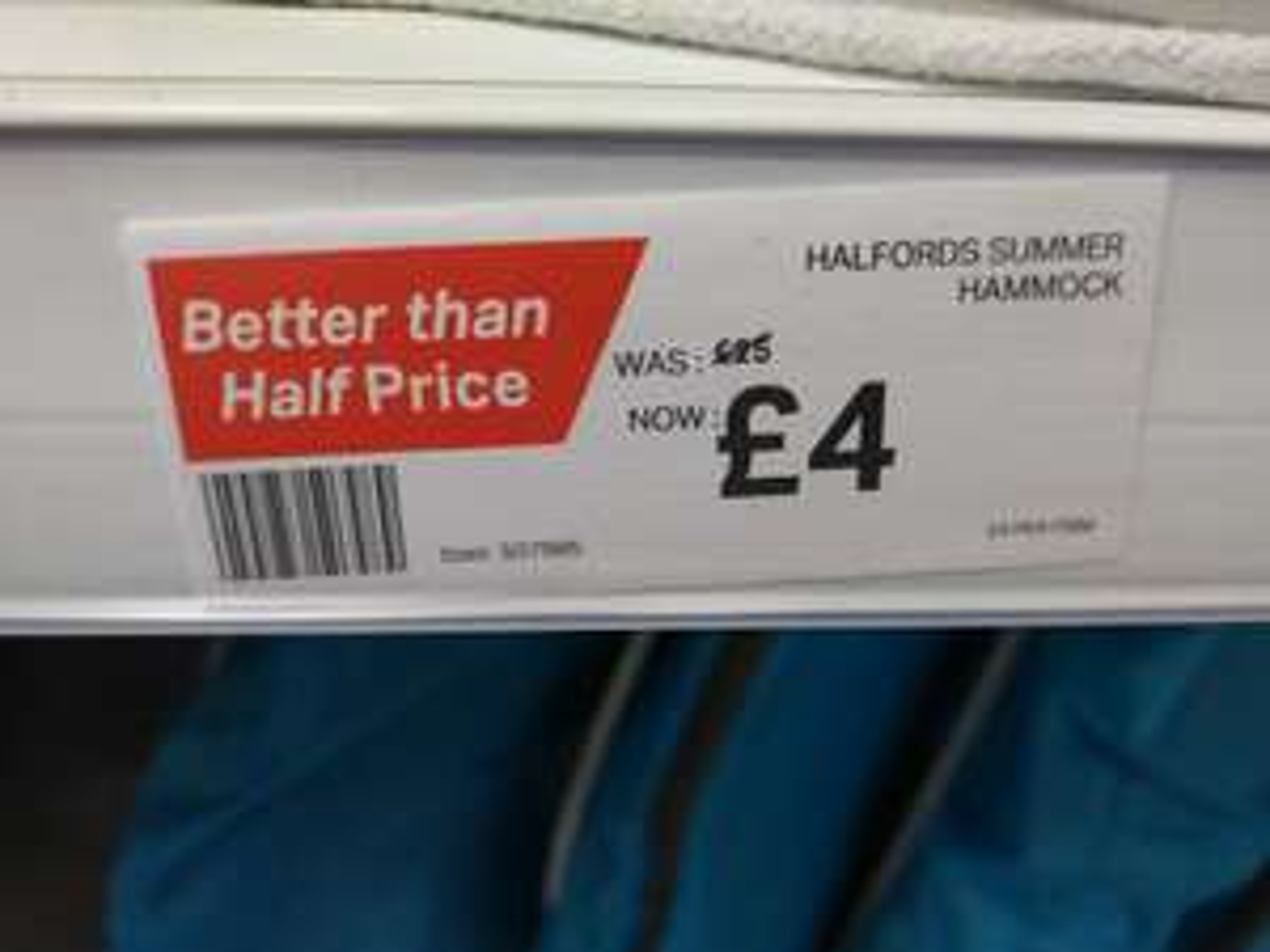 Summer Hammock @ Halfords instore - £4