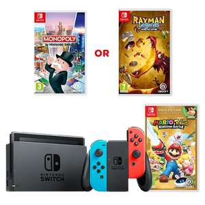 Nintendo Switch 2 game bundle with Mario Rabbids Kingdom Battle Gold edition and either Monopoly or Rayman Legend £299.99 @ Smyths Toys